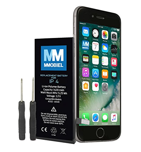 MMOBIEL® Batterie pour iP 4 Li-Ion 3.7V 1420 mAh 5.25Wh inclus 2 x Tournevis et Manuel d'instructions