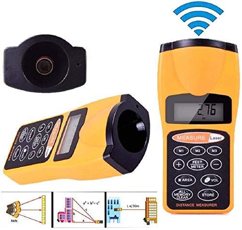 Laser Entfernungsmesser, Chengtao Ultraschall Entfernungsmesser, Handheld Laser Distanzmessgerät Messbreich 0.05~18m/±2mm mit LCD Hintergrundbeleuchtung Staub und IP 54 Wasserdicht