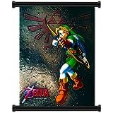 Legend of Zelda: Ocarina de tiempo juego de pared Póster de tela Scroll pulgada{0} (40,64 cm x 53,34 cm)