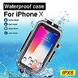 BECEMURU iPhone Wasserdicht Sealed Fall 60m/195ft Professionelle Unterwasser Foto Video wasserdichte...