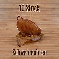 10unidades de orejas de cerdo. Snack del mismo tipo que las orejas de vacas o el pene de toro