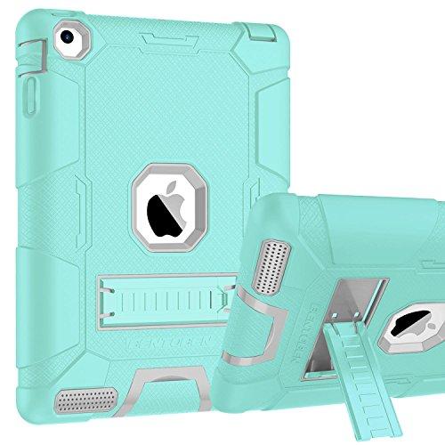 Silber Zebra Cover (iPad 2Case, iPad 3Case, iPad 4, bentoben Fullbody 3in 1[Weiche und harte] Schutzhülle Hybrid Heavy Duty Rugged stoßfest Drop Widerstand Anti-Rutsch Cover für Apple iPad 2/3/4Retina)
