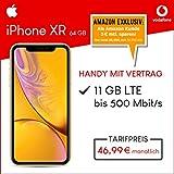Apple iPhone XR (gelb) 64GB Speicher Handy mit Vertrag (Vodafone Smart XL) 11GB Datenvolumen 24 Monate Mindestlaufzeit [Exklusiv bei Amazon]