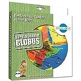 Caly 76114 - Aufblasbarer Globus glänzend, Kinderspiele