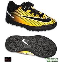 Nike MERCURIAL Niño Naranja Velcro Zapatilla Futbol Turf - 33