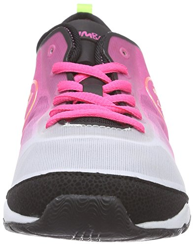 Zumba Footwear Zumba Flex II, Damen Hallenschuhe, Pink (Pinkadelic/Black), 40 EU (6 Damen UK) -