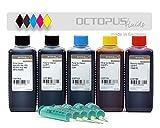 500 ml inchiostro di ricarica, inchiostro per stampante per cartucce Canon Pixma MG 5700, 5750, 5751, 5752, 5753, 6800, 6850, 6851, 6852, 6853, 7700, 7750, 7751, 7752, 7753 (Non OEM)
