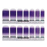 Lurrose 2 fogli glitter completo nail art adesivi polacchi strisce autoadesive Nails punta decalcomania dito adesivo manicure decorazione per donne e ragazze