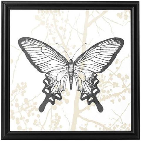 Historia Natural arte, un clásico mariposa imagen para su hogar u oficina. Único Marco para pantalla en el dormitorio, salón o cocina. Tamaño 31x