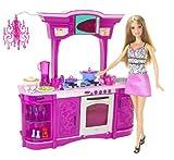 Mattel N4893 - Barbie Leben Küche, Möbel inklusive Puppe