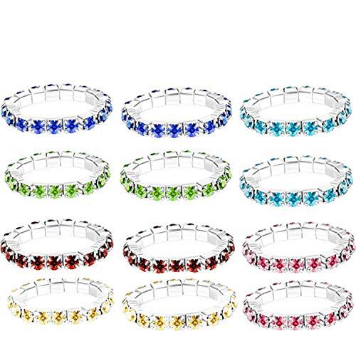 PPX Zehenringe Ring Set für Damen Vintage Open Ring, Einstellbar mit schöner Box (Diamant/12 Stck)