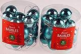 Set von 36Mini Weihnachtsbaum Weihnachtskugeln/Dekorationen–Hot Blau