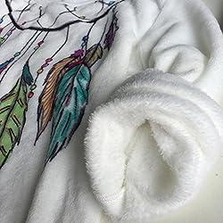 DELEY Autumn Winter Warm Women Girls O-Neck Printing Soft Fleece Hoodies Sweatshirt Pullover Hooded Sweater Blouse