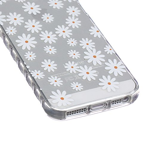 ZeWoo TPU Schutzhülle - BF033 / Don't touch my phone(Bär) - für Apple iPhone 5 5G 5S Silikon Hülle Case Cover BF046 / Reine kleine Daisy