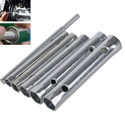 Vetrineinrete Chiavi a bussola tubolare esagonale lunga 6 pezzi chiave candela a tubo doppia con leva di manovra in cromo vanadio 91942 C1
