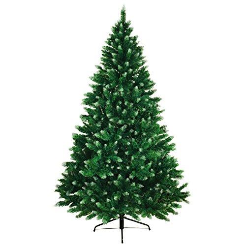 Bb sport albero di natale realistico 180 cm verde medio - zucchero a velo abete natale artificiale