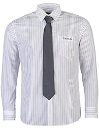 Pierre Cardin Hombre Camisa Ropa Mangas Largas Casual Vestir Botones Bolsillo