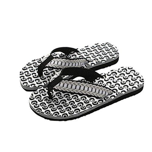Sunday_Flip-Flops Sandalen Zehentrenner Herren, Men Männer Schuhe Sandalen Männlichen Slipper Indoor & Outdoor Flip-Flops Mode Sommer Schwarz