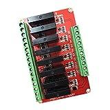 Sharplace Rot Solid State Relais Modul Schild Erweiterungsboard Relaismodul High Level Trigger Relaisplatine mit Fuse 240v 2a - 8 Kanal 12V