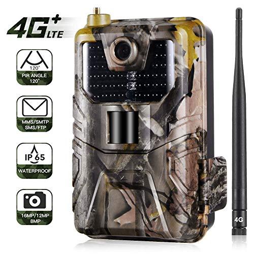 WYYHAA Caméra de Chasse/ 16MP 1080P Trail caméra, 120 ° Grand Angle 65ft Plage de détection 40pcs 940nm LED IR étanche IP65 pour la Surveillance de la Faune