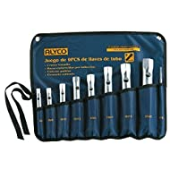 Alyco 191570-Schlüsselsatz 8-Rohr Tragebox seidenmatt Une 16586in Nylontasche