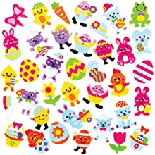 Baker Ross Easter Foam Stickers, Creative Art and Craft Supplies for Kids to Make and Decorate (120 Pack)