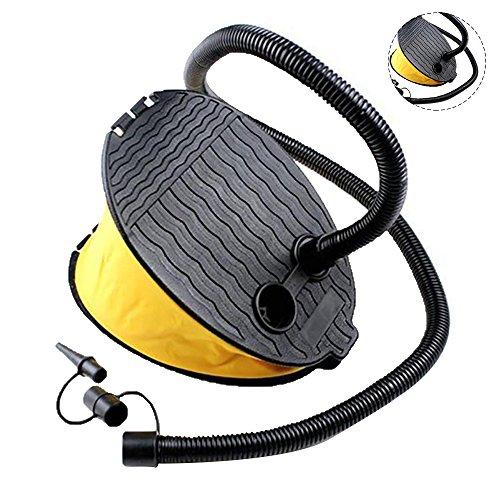 Eizur Pompe à pied 3L Pompe à air Gonfleur à Pied pour bouée/matelas pneumatique/autres produits gonflables idéal pour enfants Jeu,camping, voyage [Jaune]