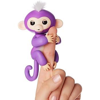 Fingerlings ouistiti violet bébé singe interactif de 12cm