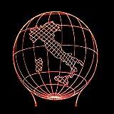 3d nachtlicht 3D Erde Form Lampe Led 7 Farbwechsel Visuelle Italien Karte Lampe Usb Schlafzimmer Schreibtisch Beleuchtung Schlafzimmer Nacht Nachtlicht Dekor Geschenke