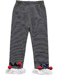 f538b22b1ee3d Miyanuby Legging Fille, Automne Hiver Coton Pantalons Amincissant Comfort  Sport Jogging Yoga Collants pour Enfants