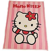 Hello Kitty Fleece manta de forro polar, poliéster, rosa, 130x 160x 0.2cm