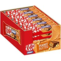Nestlé® KitKat® ChunKy Peanut Butter, Schokoriegel in Milchschokolade, mit Erdnussbutter & knuspriger Waffel, Multi-Pack, Menge: 24er Pack (24 x 42 g)