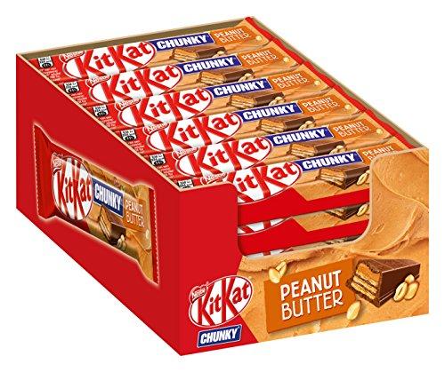 Erdnuss-schokolade (Nestle KitKat Chunky Peanut Butter Schoko-Riegel (Erdnuss-Crème) 24er Pack (24 x 42g) großpackung)