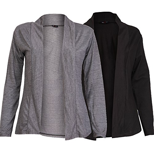 Ten on Ten Women's Shrug (Pack of 2) (NJ-CGRYBLK!_Black!_one Size)