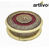 Artlivo Wooden Dry Fruit Handicraft Box With Antique Look/Box/ Furit Box/Dry Fruit Box/Decorative Box/Wooden Box/Handicraft Bxo/Multi Purpose Box/Diwali