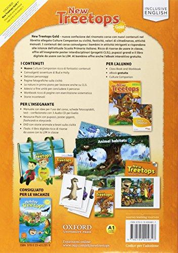 Treetops new. Class book-Workbook. Ediz. gold. Per la Scuola elementare. Con e-book. Con espansione online. Con 2 libri: -Compiti di realtà-Culture companion: 1