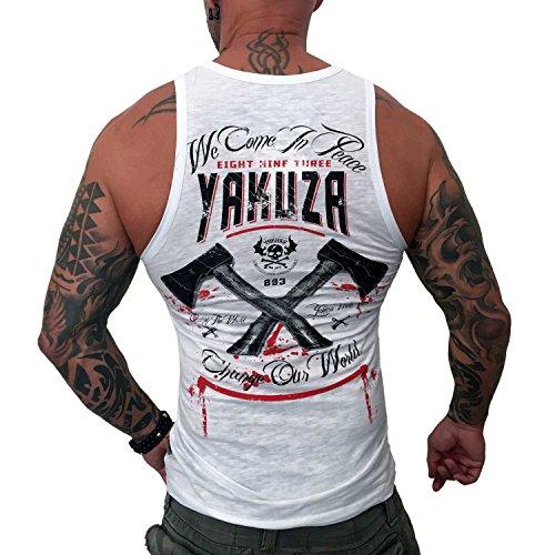Yakuza Original Herren We Come In Peace Tank Top T-Shirt Weiß