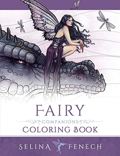Fairy Companions Coloring Book - Fairy Romance, Dragons and Fairy Pets: Volume 4 (Fantasy Art Coloring by Selina) por Selina Fenech