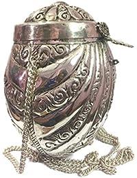 Unique Silver Vintage Sling Bag For Women Party Clutch Metal Clutches Vintage Handmade Brass Metal Purse Antique...