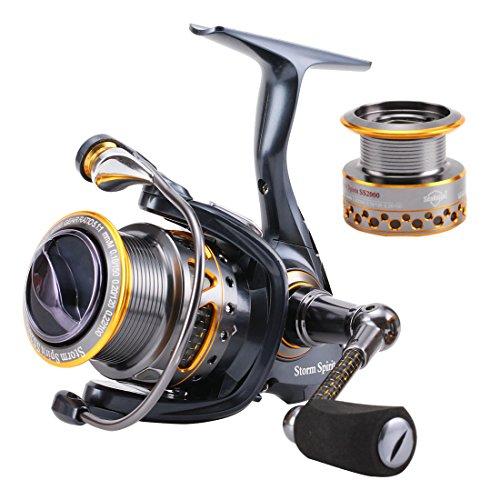 SeaKnight SS Serie-Mulinello da Pesca Spinning Super Leggero in Alluminio, 11BB-Enhanced Mulinello da Pesca con bobina di ricambio, Reel-SS2000 - Daiwa Alluminio Bobine Di Pesca