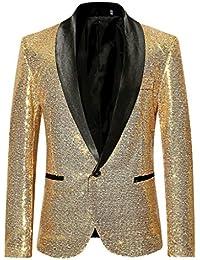 QUICKLYLY Trajes Hombre Chaquetas Charm Encanto Casual Un Botón Apto Fit  Suit Traje Blazer Abrigo Tops dfd05158d418