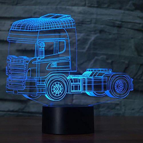 orangeww 3D Rakete LED Motorrad Form Nachtlicht All Terrain Vehicle Tischlampe USB LKW 7 Farben Hubschrauber Beleuchtung Kind Raumdekoration Festival Freund Kollege Geschenk Andenken