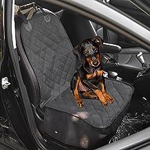 Amzdeal Coprisedile dell`Auto per Animali Domestici Impermeabile, Protezione Tappezzeria Contro i Pelli del Cane, Colore di Nero