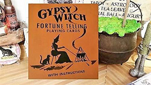 hild aus Holz, Halloween-Dekoration, Halloween-Dekoration, Hexenschild, Zigeunerin, Hexe, Glückserzählen, Halloween, Kunst Glück ()