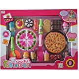 FunBlast Pizza Set Toys for Kids, Kitchen DIY Pretend Play Mini Fast Food Toy for Kids (Multicolor)