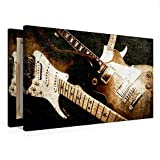 Premium Textil-Leinwand 75 cm x 50 cm quer Gitarrengruppe im Vintage-Style   Wandbild, Bild auf Keilrahmen, Fertigbild auf echter Leinwand, ... Les Paul Standard (CALVENDO Kunst)