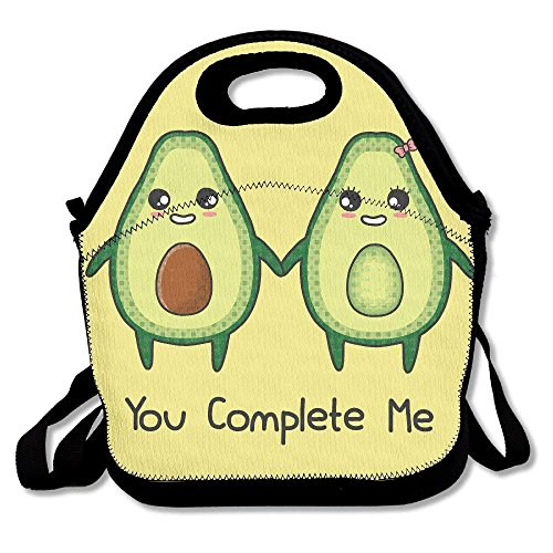 Avocado Couple Love Multifunctional Lunch Tote Bag Carry Box Freezable Ice Pack