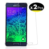 NEW'C Verre Trempé pour Samsung Galaxy Alpha,[Pack de 2] Film Protection écran - Anti Rayures - sans Bulles d'air -Ultra Résistant (0,33mm HD Ultra Transparent) Dureté 9H Glass