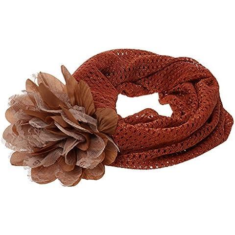 Pañuelo Gorro De Malla Caída Neta Gorrita Turbante Floral Para Mujer - Naranja