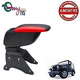 #7: myTVS TAR-16 Car Designer Armrest with Slider-Black & Red for Mahindra Thar